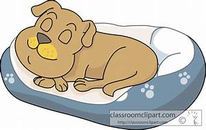 Dog Clipart : sleeping_in_dog_bed_813 : Classroom Clipart