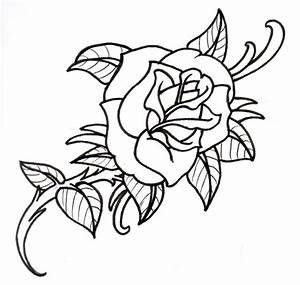 Line Drawing Rose - Cliparts.co