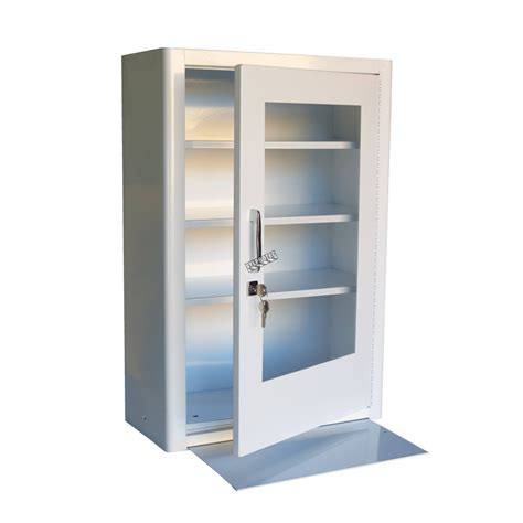 metal wall cabinets wall mounted metal aid cabinet with clear panel door