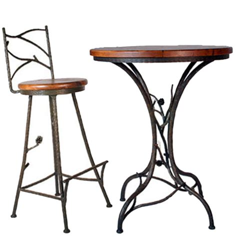 wrought iron pub table stone county ironworks pine bar table with 30 quot top 904086