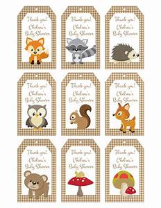 Woodland Friends Forest Animals Theme Baby Shower Favor ...
