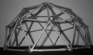 Model Of A Geodesic Dome Icosahedron Alt 2v  In Bamboo