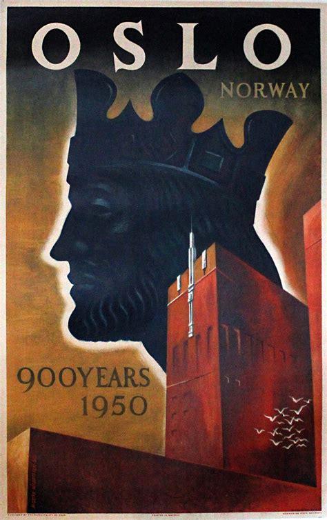 original vintage poster oslo norway  years