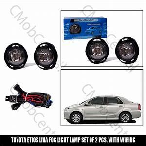 Fog Light Lamp Toyota Etios Liva Set Of 2 Pcs  With Wiring