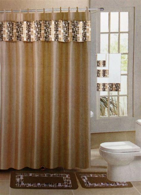 mosaic taupe gold  piece bathroom accessory set  bath