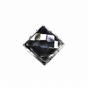 Boucle d'oreille clou carre homme argent oxyde zirconium BijouxStore webid:947