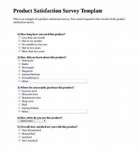 Sample Survey Questionnaire Template 12 Product Survey Templates Free Word Pdf Format