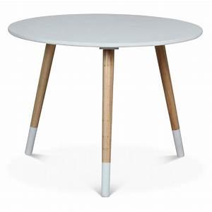 Table Scandinave Enfant : table scandinave ronde enfant blanc little marmaille ~ Teatrodelosmanantiales.com Idées de Décoration