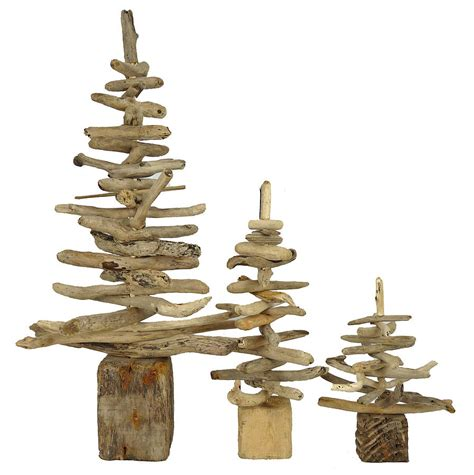 driftwood christmas trees by nautilus driftwood design