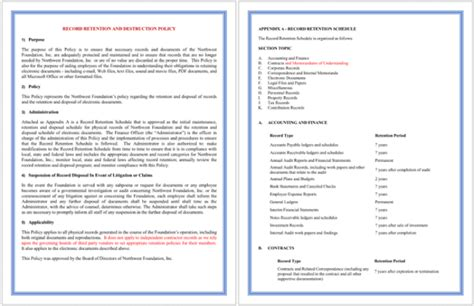 Document Retention Policy Template by 5 Document Retention Policy Sles For Word And Pdf