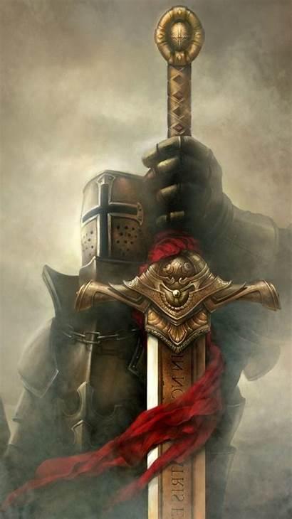 Knight Sword Wallpapers Desktop Fantasy Knights Crusader
