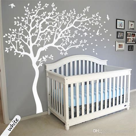 large size white tree wall stickers diy home decoration
