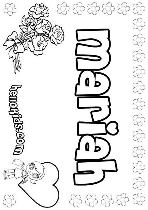 girls  coloring pages mariah girly   color