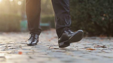 Closeup of luxury shoes, businessman walking, elegant rich ...