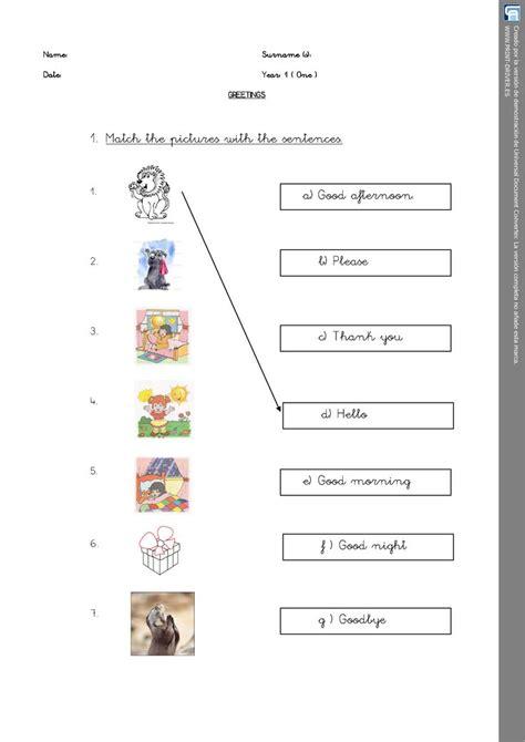 matching activity worksheet personal teaching