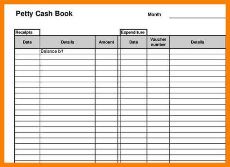 cashbook page template petty cash book template gallery template design ideas