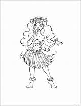 Hula Pages Coloring Printable Screen Coloringpagesonly sketch template