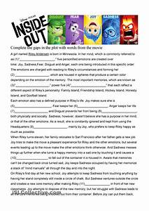 Inside Out Movie Worksheet In Depth B1 Tefl Lesson Ideas