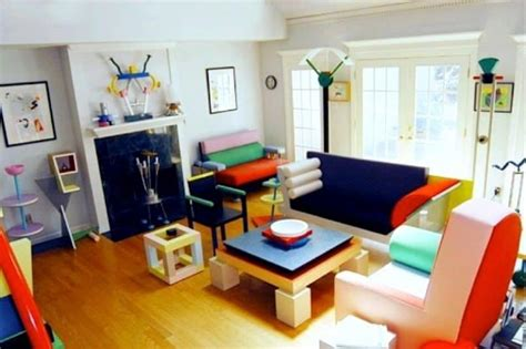 Post Modern Home Style : Colorful Post Modern Living Room Interior Style-fresh
