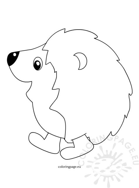 autumn hedgehog coloring page