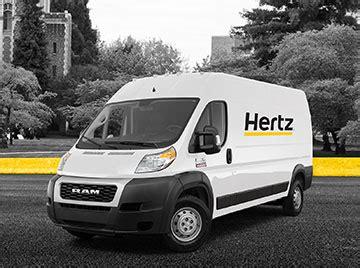 truck van rental hertz