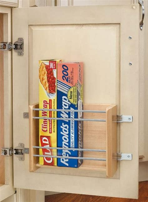 save drawer space by placing a rack on the inside of any