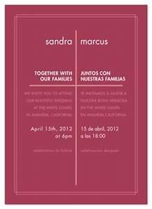 bilingual english spanish wedding invitation spanish With wedding invitations in spanish and english