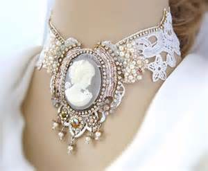 Lace Vintage Cameo Necklace