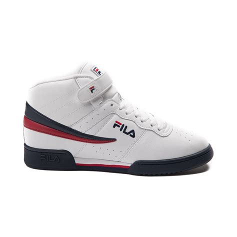 mens fila   athletic shoe whitenavyred