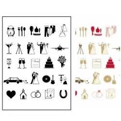 wedding reception program stickytiger wedding icon st set