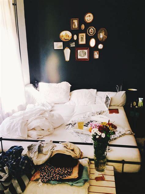 messy bedroom  dark walls homedesignboard