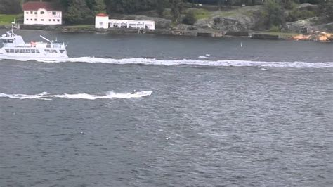 Small Boat Big Waves by Driver On Oslo Fjord Small Boat Vs Big Waves