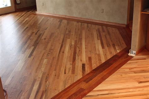 Quarter Sawn Oak Flooring by Red Oak Flooring With Brazilian Cherry Border Family
