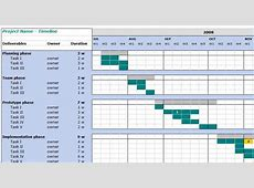 8+ Project Management Timeline Template Ganttchart Template