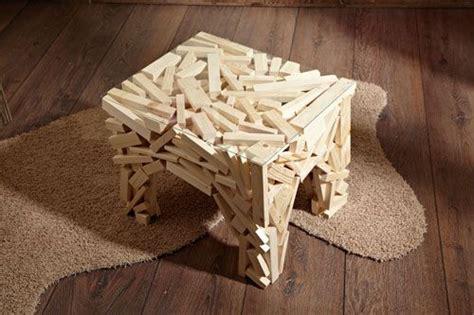 Comodini Grezzi Da Decorare Tavolino Di Listelli Riciclo E Riuso Idee Creative