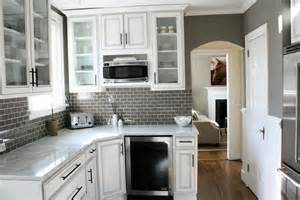 Gray Backsplash Kitchen White Cabinets With Gray Backsplash Home Design Ideas