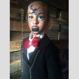 Homemade Broken Doll Costume | 736 x 996 jpeg 96kB