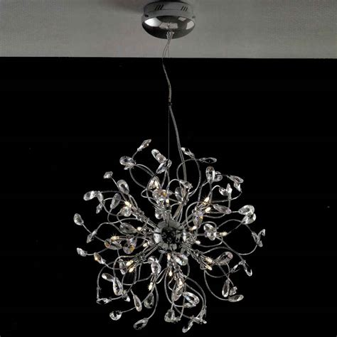 Modern Chrome Chandelier by Brizzo Lighting Stores 24 Quot Tempesta Modern
