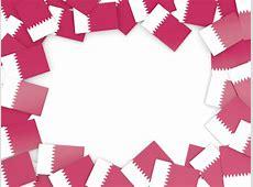 Flag frame Illustration of flag of Qatar