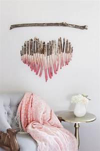 Diy pink ombre heart branch wall art love maegan