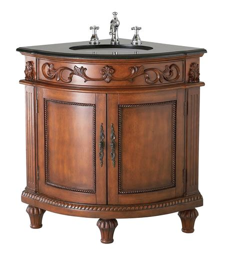 beautiful belle foret dark oak corner bathroom vanity review