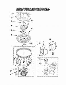 Pump And Motor Parts Diagram  U0026 Parts List For Model Mdbh968awb3 Maytag