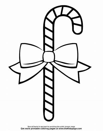Coloring Candy Cane Kerst Printable Printables Colouring