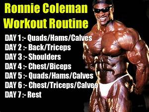 Ronnie Coleman Workout And Diet