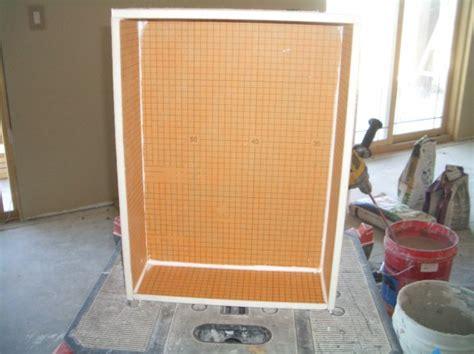 building a shower niche building a niche with kerdi board