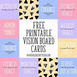 vision board cards setting and maintaining goals With vision board templates free