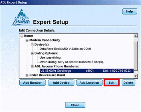 manually add access phone numbers aol help