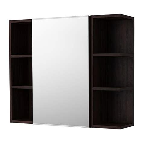 ikea lillangen bathroom mirror cabinet lill 197 ngen mirror cabinet 1 door 2 end units black brown