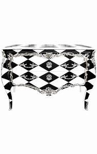 Damier Noir Et Blanc : commode baroque de style louis xv damier noir et blanc ~ Dallasstarsshop.com Idées de Décoration
