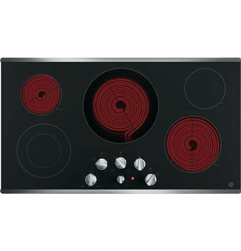 ge  built  knob control electric cooktop jpsjss ge appliances